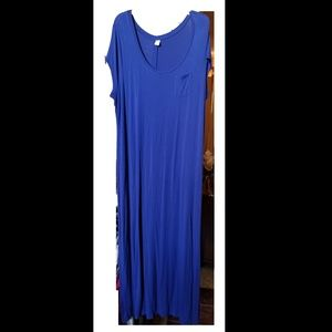 Royal Blue Travel Knit Maxi Dress